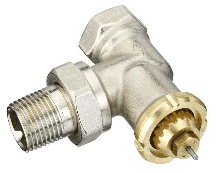 Een slimme thermostaatknop past op een Danfoss RAVL afsluiter. Een adapter wordt gratis meegeleverd, maar het is beter deze afsluiter te vervangen voor een M30 afsluiter.