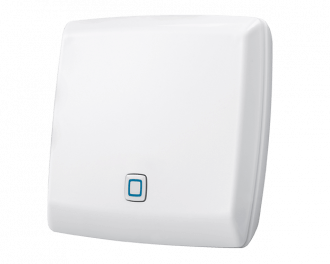 De Alpha IP access point wordt met een netwerkkabel aangesloten op het thuisnetwerk/internetmodem (meestal in de meterkast)