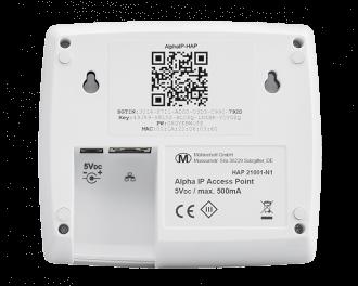 De app maakt verbinding met het access point door de QR code aan de achterkant van het access point te scannen.