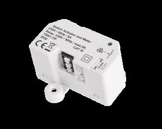 De Alpha IP schakel module wordt draadloos aangestuurd door de Alpha IP thermostaat. Inbouw model (voor in verdeeldoos)