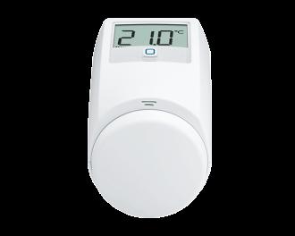 De temperatuur kan ingesteld worden met de draaiknop op via de Alpha IP app.