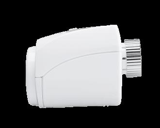 De thermostaatknop heeft een slank en onopvallend design.