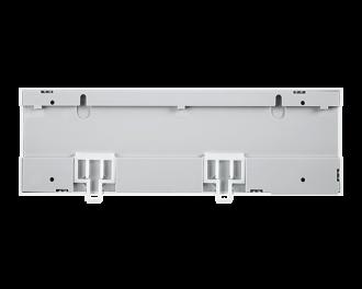De zoneregelaar kan geinstalleerd worden op een DIN-rail.