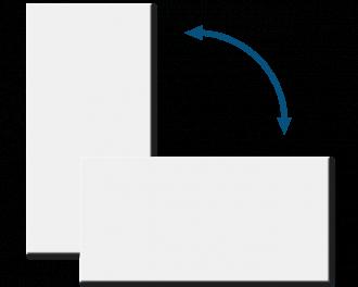 De infrarood verwarming kan zowel in staande als in liggende positie gemonteerd worden.