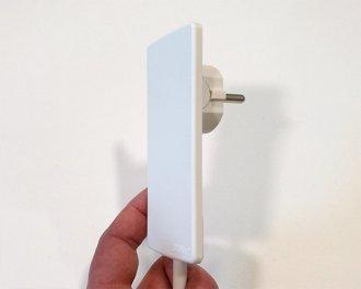 Heat4All infraroodverwarming is voorzien van een platte stekker
