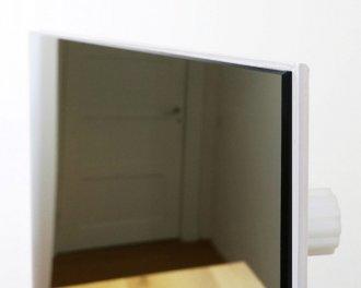 Het Heat4All Spiegel infraroodpaneel is gemaakt van ESG veiligheidsglas. De volgens veiligheidseisen verplichte omranding is slechts 2mm dik