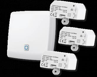 Inclusief Alpha IP access point en drie schakel modules (1 per infraroodpaneel)