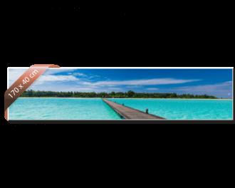 Heat4All Zijdeglans infraroodverwarming. Afdruk ter illustratie. 710 Watt. 170 x 40cm.