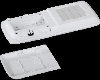 De afstandsbediening werkt gemiddeld 2 jaar op 2 AAA mini penlite batterijen. De batterij wordt meegeleverd.