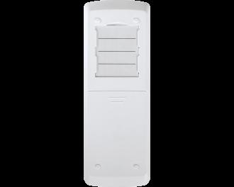 Aan de achterzijde van de afstandsbediening kunnen papieren labels ingelegd worden die de functies van de knoppen beschrijven.