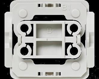 Met deze Berker B1 wipvlak adapter kunnen Berker wipvlakken en afdekramen uit de serie Arsys en K.1 toegepast worden op Homematic IP schakelaars en dimmers.