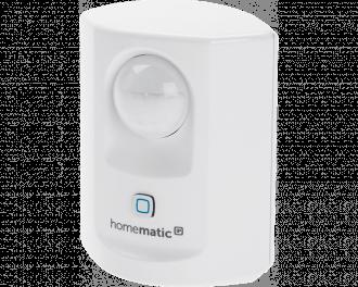 De compacte Homematic IP bewegingsmelder detecteert beweging en meet de lichtsterkte tussen 0% en 100%.