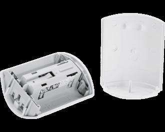 De bewegingsmelder werkt gemiddeld 2 jaar op twee AA penlite batterijen. De batterijen worden meegeleverd.