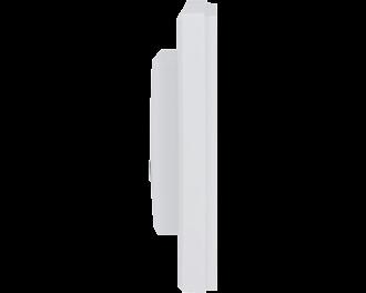 De bewegingsmelder is slechts 20mm dik. De bewegingsmelder zelf is 55 x 55 mm. Het gehele product, met afdekraam, meet 86 x 86 mm.