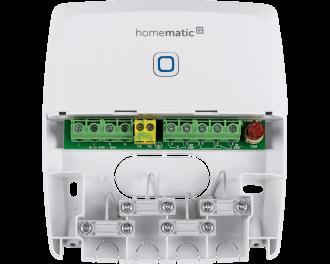 De module heeft twee aansluitingen. Hiermee kan een CV-ketel en een extra pomp aangestuurd worden, of kunnen tot twee CV-ketels aangestuurd worden.