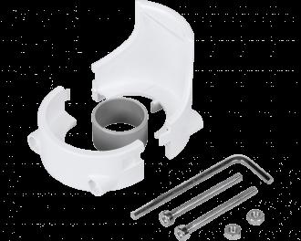 De diefstal beveiliging wordt geleverd met inbussleutel en met extra ronde steunring voor stevige montage van de thermostaatknop.