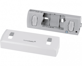De doorgangsmelder werkt op batterijen. De twee AA penlite batterijen worden standaard meegeleverd.
