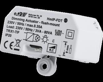De dimmer maakt geen zoemende geluiden en werkt volgens faseafsnijding technologie (RC dimmer).