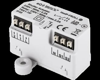 De Homematic IP schakel module voor rolluik, zonwering en gordijn kan een motor tot 500 Watt of 2,2 Ampere schakelen.