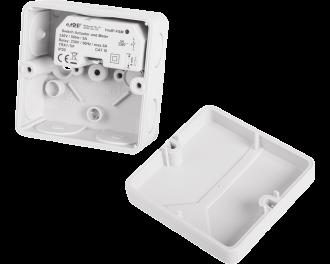 De module kan ingebouwd worden in verdeeldozen voor elektra (bijvoorbeeld Abox 025 of 040). De getoonde verdeeldoos is een Abox 025 of 040.