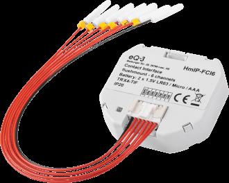 De zeven draden van de input module worden aangesloten op de schakelaars of drukknoppen. GND en IN1, GND en IN2, GND en IN3 enzovoorts.