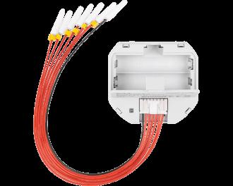 De module werkt op twee 1,5V AAA mini penlite batterijen.