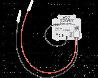 De Homematic IP input module maakt standaard schakelaars, drukknoppen of contacten slim.