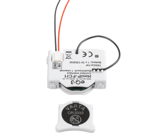 De module werkt op een CR 2032 knoopcel batterij.