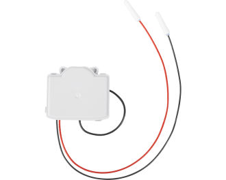 De module is zeer plat, 12 mm, en kan ingebouwd worden in een inbouwdoos achter de schakelaar of drukknop