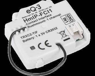 De module detecteert of een schakelaar aan of uit staat en of een drukknop ingedrukt wordt. Deze informatie wordt gebruikt als input om andere Homematic IP apparaten aan te sturen.