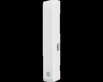De Homematic IP raam- en deursensor detecteert openen en sluiten van ramen en deuren met een optische sensor.