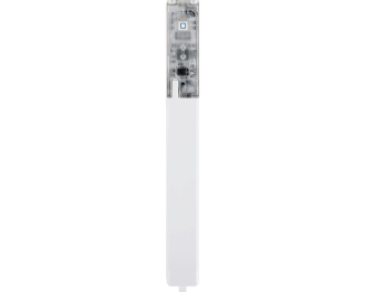 De fotocel aan de voorzijde straalt infraroodlicht uit. Als deze onderbroken wordt, wordt dit gedetecteerd door de sensor van de fotocel.
