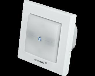 De Homematic IP schakelaar met LED signaallamp kan tot 1150 Watt schakelen. De LED signaallamp kan verschillende kleuren aangeven, afhankelijk van de gekozen toepassing en functies.