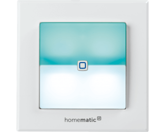 De kleuren van de LED zijn instelbaar via de Homematic IP app. De kleur verandert mee, afhankelijk van de gekoppelde functie.