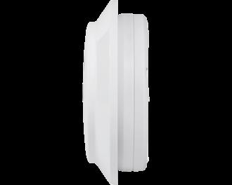 De afmetingen van de sirene zijn 12,4 x 12,4 x 4,5 cm (B x H x D).