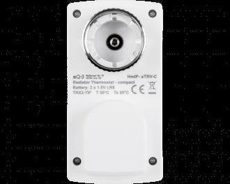 De thermostaatknop werkt gemiddeld 5 jaar op twee AA penlite batterijen. Het batterijvak wordt vergrendeld met een meegeleverde sleutel.