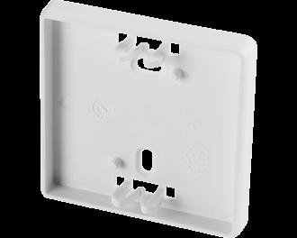 De buitenmaat van het montagevlak is 6,0 x 6,0 cm, in plaats van 8,6 x 8,6 cm van een normale afdeklijst van een Homematic IP apparaat.