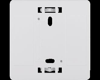 Het montagevlak is geschikt voor de volgende Homematic IP 55 x 55 mm apparaten: Thermostaat of temperatuursensor, bewegingsmelder, draadloze drukknop tweevoud of zesvoud.