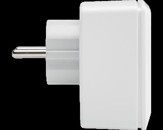 De afmetingen van de stekkerschakelaar zijn 7,0 x 7,0 x 3,9 cm (zonder de stekker, aangezien deze in het stopcontact verdwijnt).