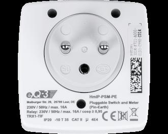 Het ingebouwde relais kan maximaal 3680 Watt / 16 A schakelen. De ingebouwde energiemeter meet het actuele energieverbruik in Watt en het verbruik gedurende de tijd in kWh.