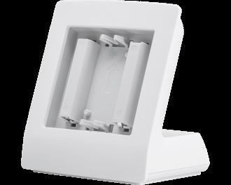 De Homematic IP tafelstandaard is bedoeld voor sensoren zoals de Homematic IP thermostaat, bewegingsmelder of draadloze drukknop.