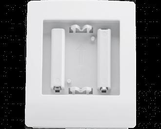 De tafelstandaard is geschikt voor de volgende Homematic IP 55 x 55 mm apparaten: Thermostaat of temperatuursensor, bewegingsmelder, draadloze drukknop tweevoud of zesvoud.