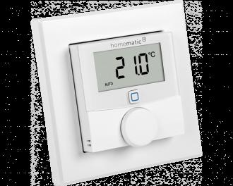 Het display van de thermostaat is verlicht en kan de gemeten of de ingestelde temperatuur tonen.
