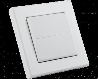 Het wipvlak is effen wit, zonder tekens.