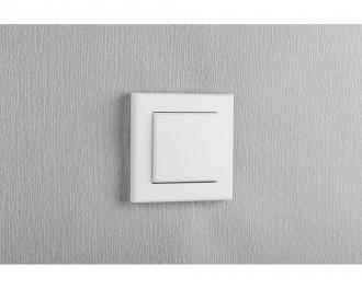 Het wipvlak maakt het mogelijk om Homematic IP inbouw schakelaars, dimmers en drukknoppen handmatig te bedienen.