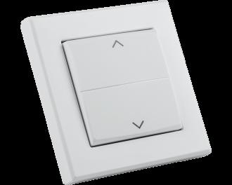 Het wipvlak is voorzien van een opgaande en neergaande, of links en rechts georiënteerde pijl.