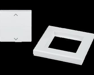 Het wipvlak is geschikt voor Homematic IP rolluik, zonwering en gordijn schakelaar voor merk-wipvlak (HmIP-BROLL).