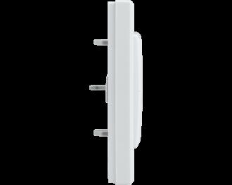 De afmetingen van het wipvlak zijn 55 x 55 mm. De afmetingen van het afdekraam en het product in geheel is 8,6 x 8,6 x 1,9 cm.