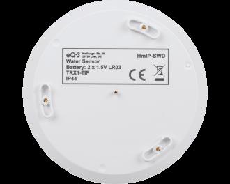 De watersensor is voorzien van 4 sensoren. De 3 buitenste sensoren meten of er teveel vocht is. De binnenste 4e sensor meet of er water staat  vanaf meer dan 1,5 mm hoogte.