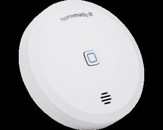De water en vochtsensor kan gekoppeld worden aan de Homematic IP Sirene. Als de watersensor alarm slaat, slaat ook de sirene alarm.